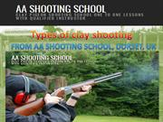 Learn types of clay shooting from AA Shooting School,Dorset, UK