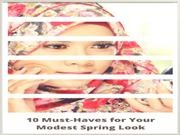 10 Must-Haves for Your Modest Spring Look
