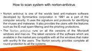 How to scan system with norton