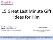 15 Great Last Minute Gift Ideas for Him
