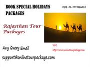 Rajasthan Tour Packages- Best India Tour & Holiday Packages