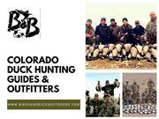 Colorado Top Duck & Goose Hunting Guides