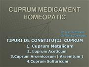 CUPRUM MEDICAMENT HOMEOPATIC