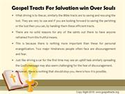 Gospel Tracts For Salvation win Over Souls