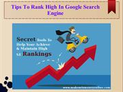 Tips To Rank High In Google Search Engine