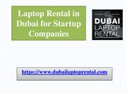Laptop Rental in Dubai for Startup Companies