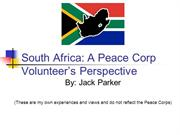 South Africa Peace Corps