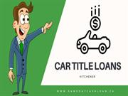 Car title loans Kitchener – Up To 75 % Lower-Interest