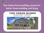 Get the knowledge of Verde building solution from Ron Staley