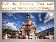 Pick the fabulous Tibet tour packages within average budget
