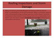 Roofing Inspections and Storm Damage