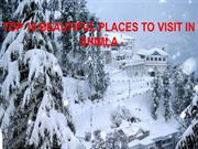 TOP 10 BEAUTIFUL PLACES TO VISIT IN SHIMLA