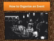 How to Organize an Event