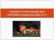 Causes of Fire Damage and Different Issues Related to it