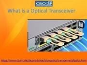 What is a Optical Transceiver
