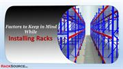 Factors to Keep in Mind While Installing Racks
