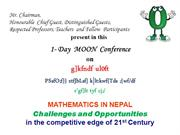 Mathematics in Nepal in the competitive edge of 21st Century