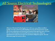 Hire Reputable Electricians in Texas- All Source Electricals
