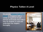 Physics Tuition A Level