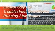 Easiest Steps to Troubleshoot QuickBooks Running Slow Issues