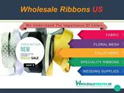 Find Most Attractive Organza Ribbon At Wholesale Price