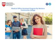 Medical Office Assistant Program By Western Community College