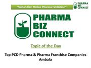 Top PCD Pharma & Pharma Franchise Companies in Ambala – Haryana