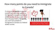 How many points do you need to Immigrate to Canada