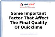 Some important factor that affect Quicklime Manufacturers