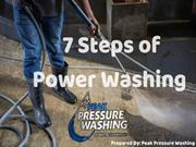 Power Washing Service in Just 7 Steps by Peak Pressure Washing