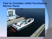 Tips to Consider while Purchasing Marine Parts