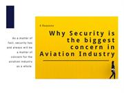 Why security is the biggest concern in aviation industry