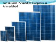 Top 3 Solar PV module Suppliers in Ahamedabad