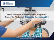 New Research Means New Hope for Patients Fighting Diabetic Retinopathy