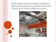 Why Should You Choose A Design-Build Commercial Contractor