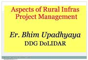 Aspects of rural infrastructure project