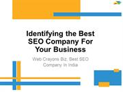 How to Identify Best SEO Company In India - Web Crayons Biz