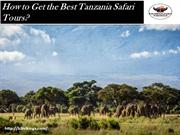 How to Get the Best Tanzania Safari Tours