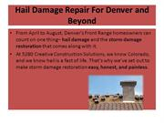 Hail Damage Repair For Denver and Beyond
