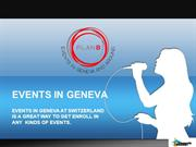 Events In Geneva | Concert Geneve | Evenement Geneve