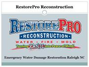 Emergency Water Damage Restoration Raleigh NC