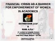 Financial crisis and women empowerment