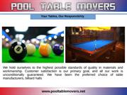 Southern California pool table movers