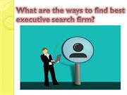 best executive search in Singapore