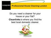 Professional House Cleaning with Cleanlinks