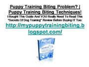 Puppy Training Biting Techniques