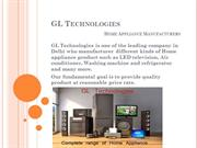 Complete range of Home appliance by GL Technologies