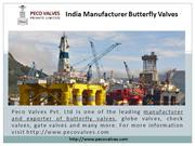 India Manufacturer Butterfly Valves