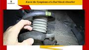Know the Symptoms of a Bad Shock Absorber