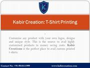 T-Shirt Manufacturers in Delhi, India